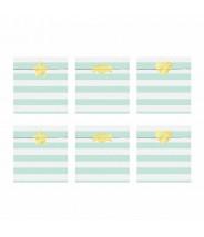 Papieren zakjes set met stickers mintgroen