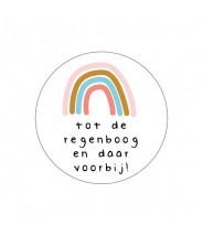 Stickers rond wit tot de regenboog en daar voorbij