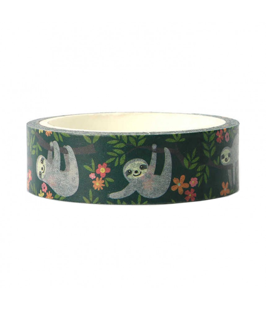Washi tape luiaard sloth
