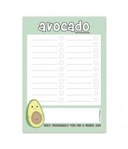 Notitieblokje to do lijstje avocado