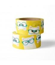 Washi studio inktvis poes met bril