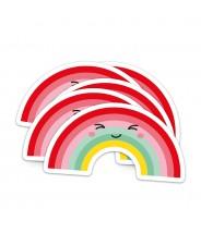 Sticker vinyl studio inktvis regenboog