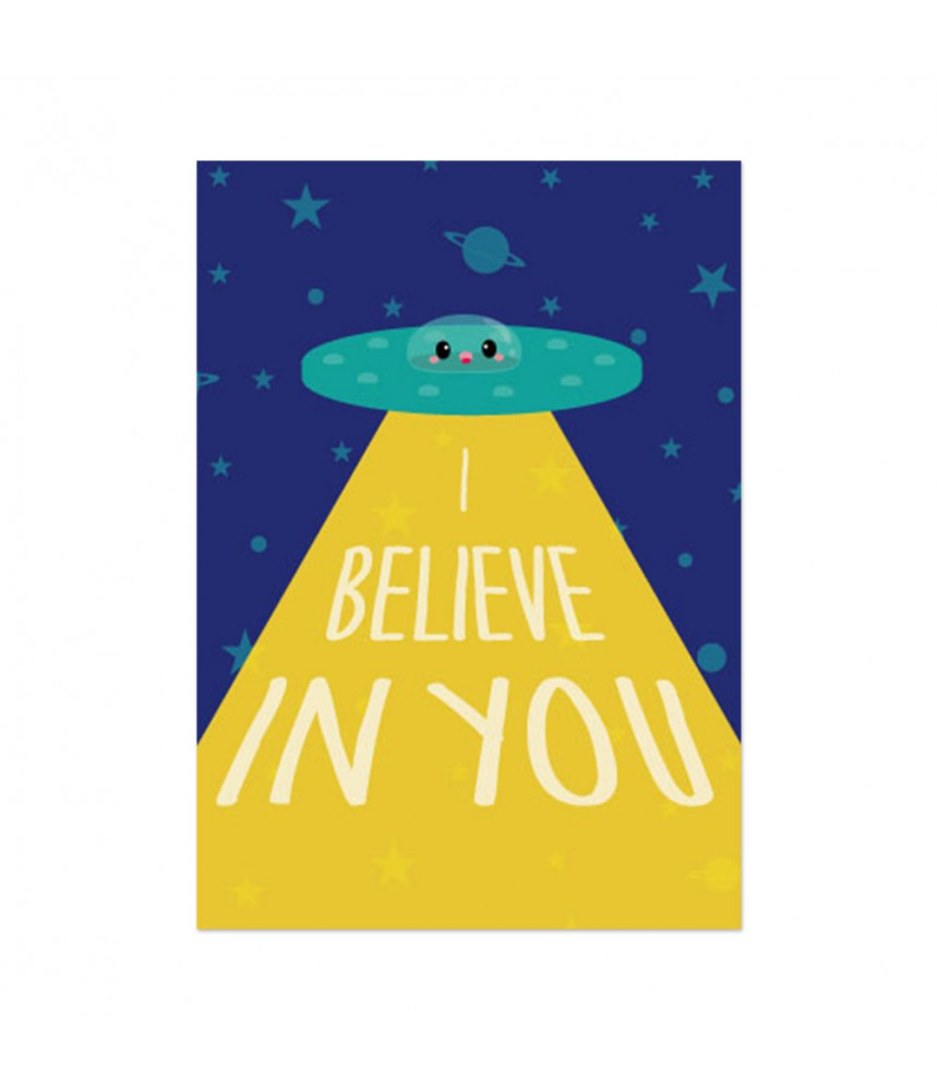 Kaart studio inktvis I believe in you ruimte