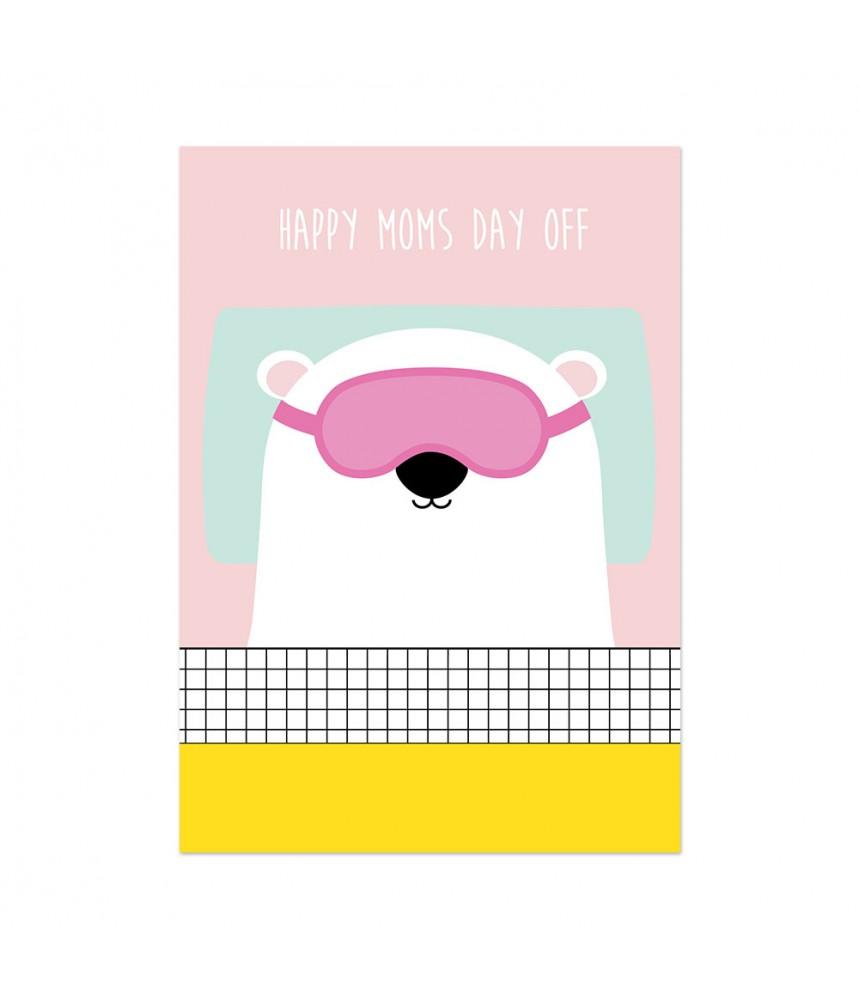 kaart studio inktvis beer happy moms day off