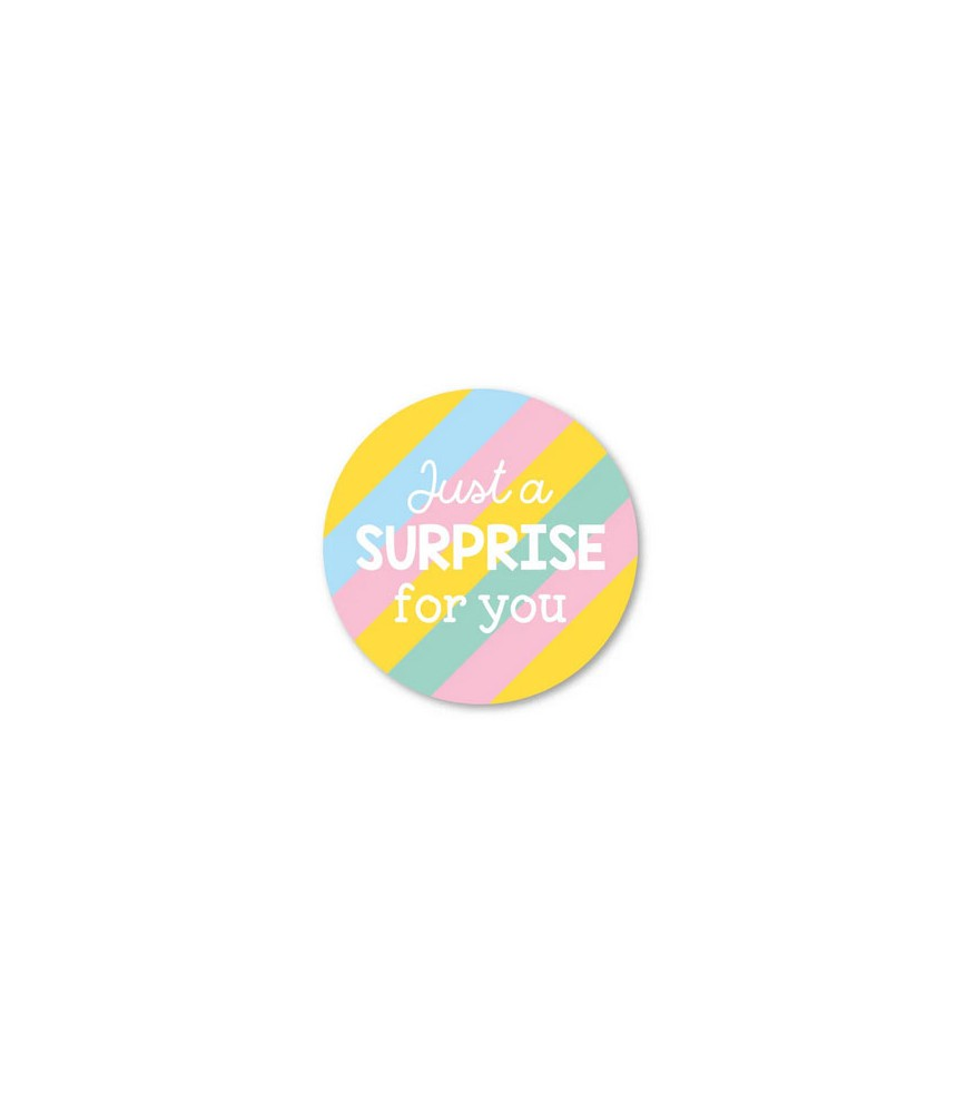Stickers rond  just a surprise for you (per 5)