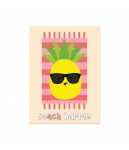 Kaart beach happy ananas