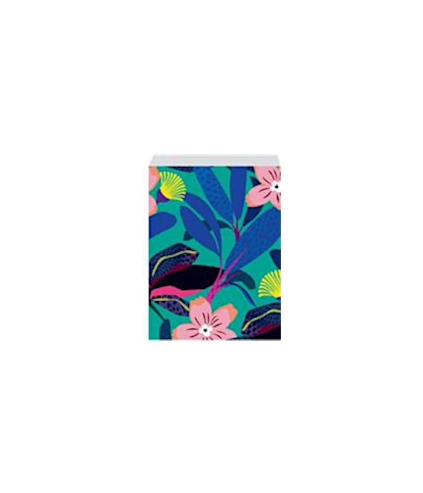 Papieren zakjes bloemen tropisch