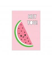 "Kaart ""hey you watermeloen"""