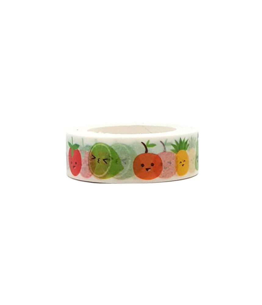 Washi tape kawaii fruit (Live Life Happy)