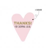 Sticker hart thanks for...