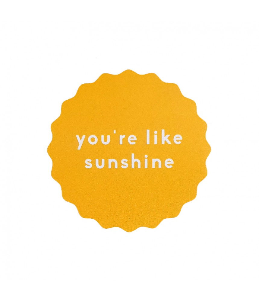 Sticker geel you are like sunshine