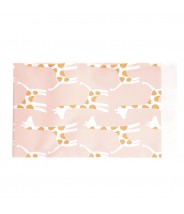 Papieren zakjes roze giraffe