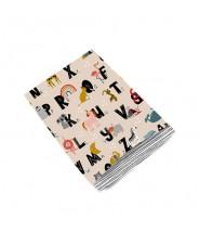 Papieren zakjes alfabet dieren patroon
