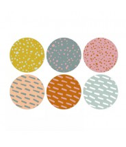 Stickers rond patroontjes pastel spaces