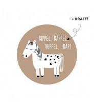 Stickers rond sinterklaas paard trippel trap kraft