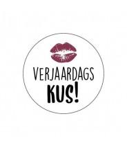 Stickers rond verjaardags kus