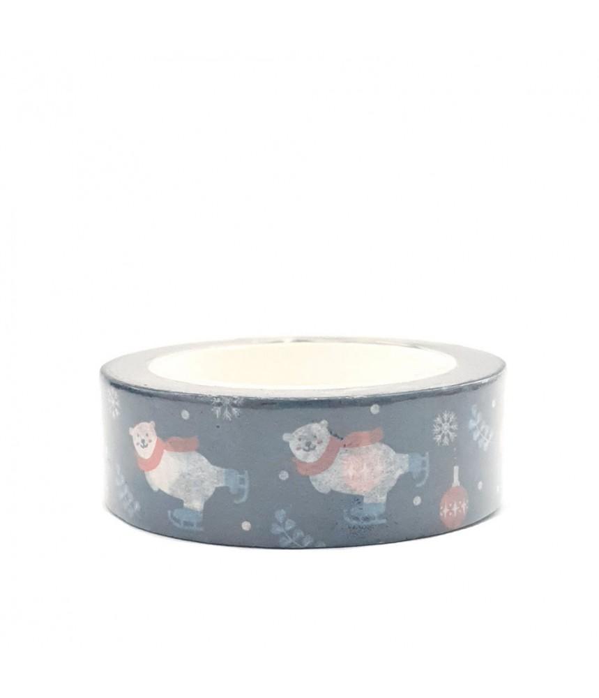 Washi tape donkerblauw ijsbeer