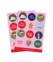 Stickervel kerstmis (studio schatkist)