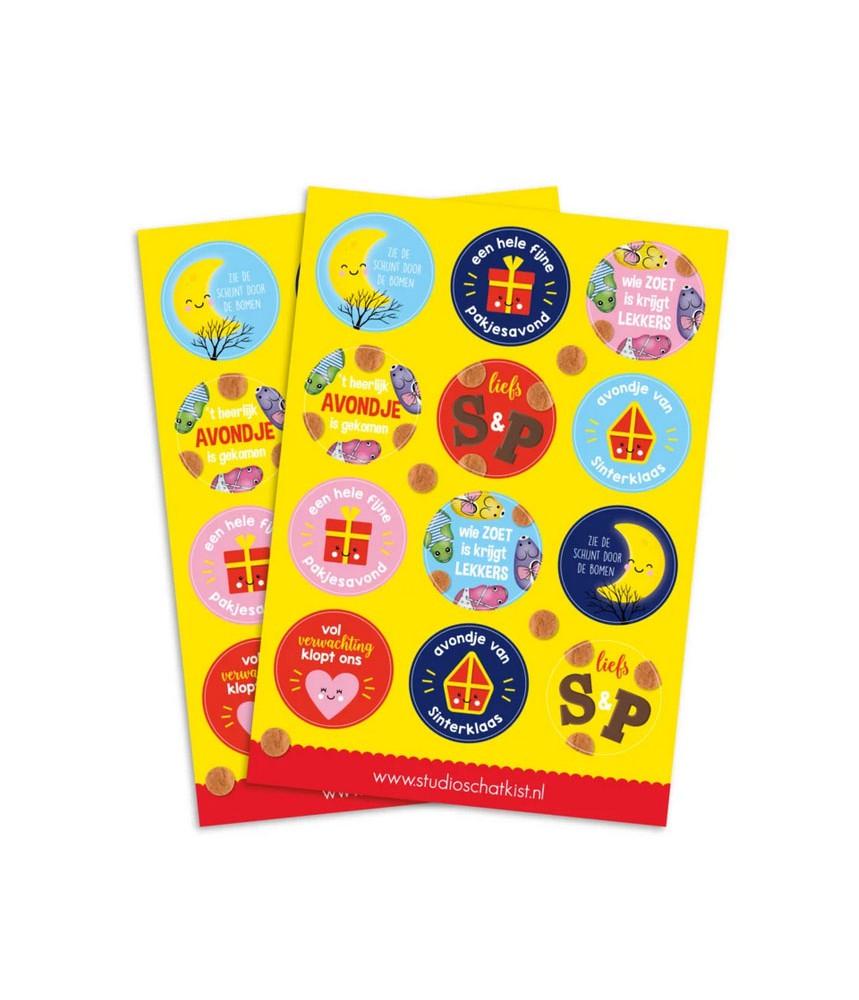 Stickervel Sinterklaas (studio schatkist)