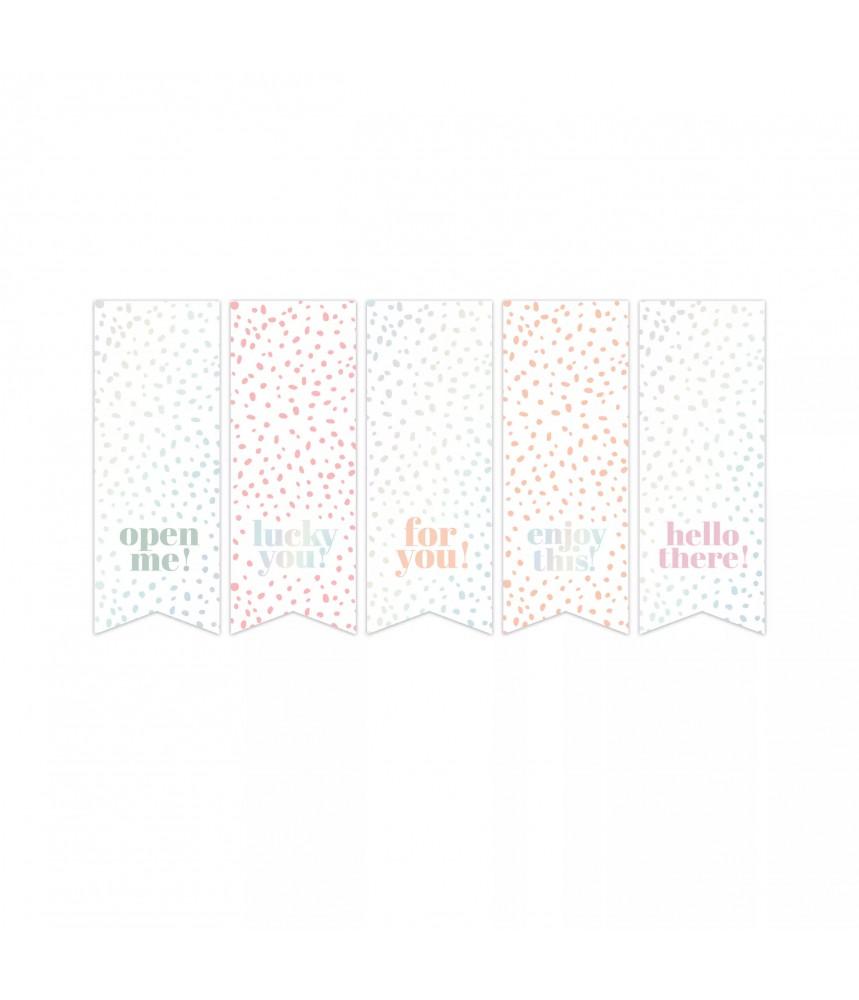 Stickers vaantjes holografische teksten