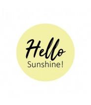 Stickers geel hello sunshine