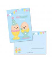 Kaart eggcelent birthday (studio schatkist)