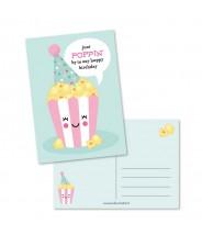 Kaart poppin birthday roze (studio schatkist)