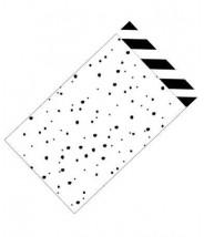 Papieren zakjes wit zwarte confetti stipjes