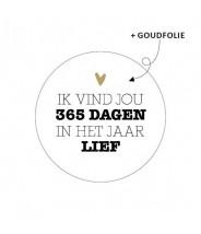 Stickers rond wit 365 dagen in het jaar lief