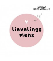 Stickers rond lievelings mens