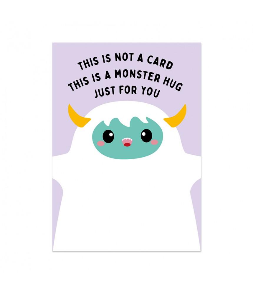 Kaart studio inktvis monster hug