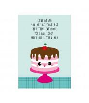 Kaart studio inktvis birthday cake quote