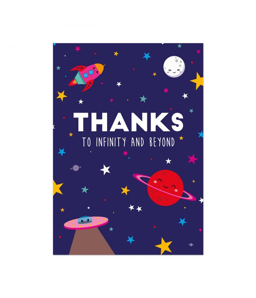 Kaart studio inktvis thanks infinity