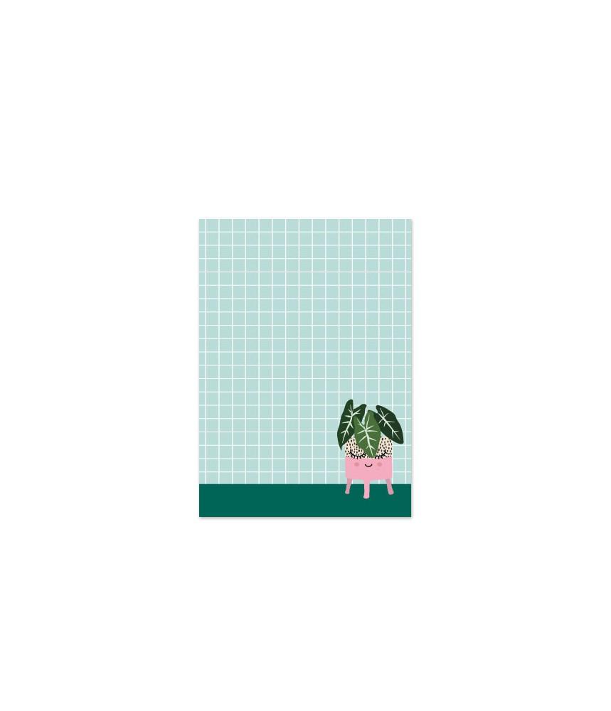 Notitieblokje studio inktvis plantje A6