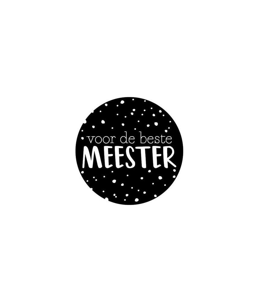 Stickers rond zwart voor de beste meester