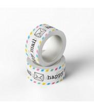 Washi happy mail gekleurd studio schatkist