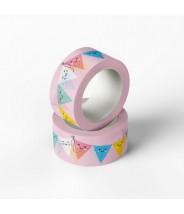Washi roze vlaggetjes studio schatkist