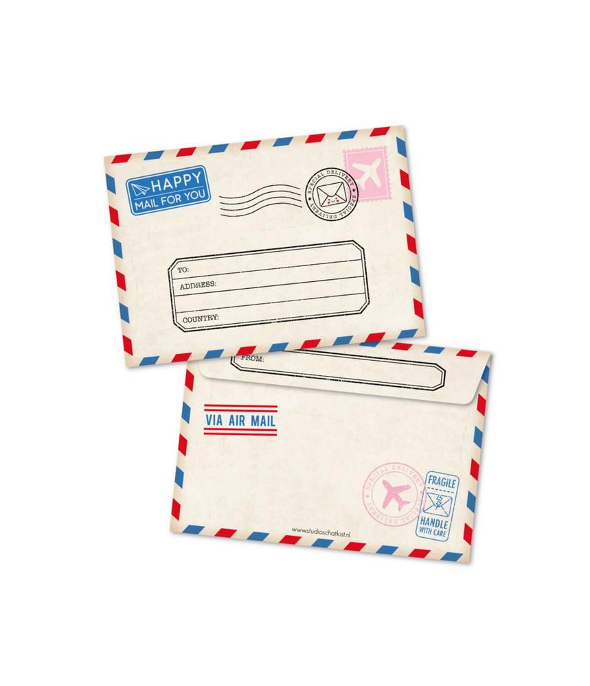Envelop air mail studio schatkist