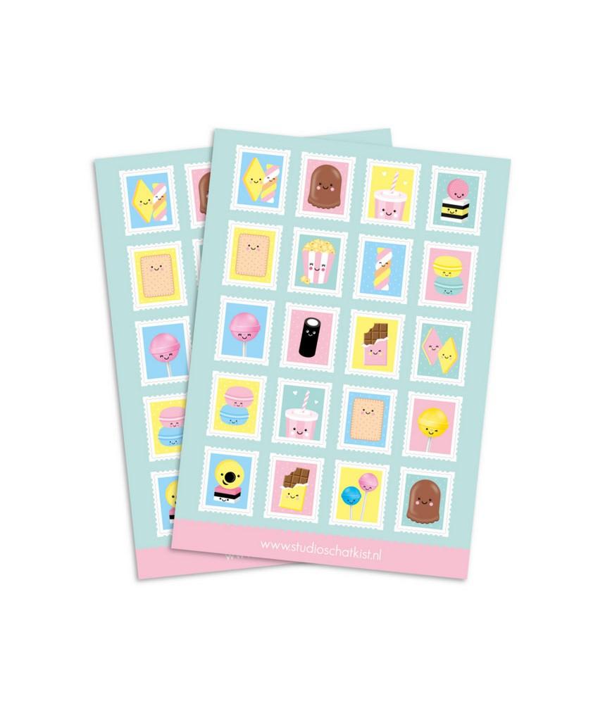 Stickervel postzegels (studio schatkist)