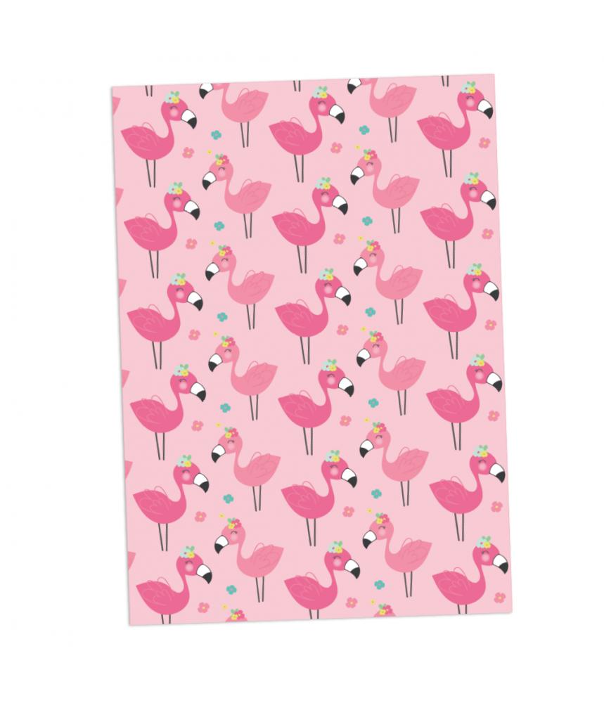 Cadeaupapier vel flamingo's