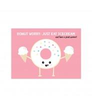 Kaart donut ijsje zomer