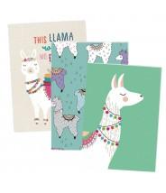 Schriften set alpaca 3 stuks a5