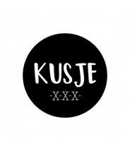 Stickers rond zwart kusje xxx