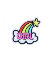 Patch strijk applicatie - Regenboog girl