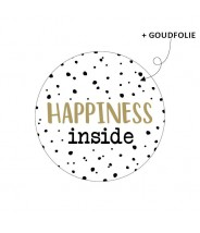 Stickers rond happiness inside stipjes