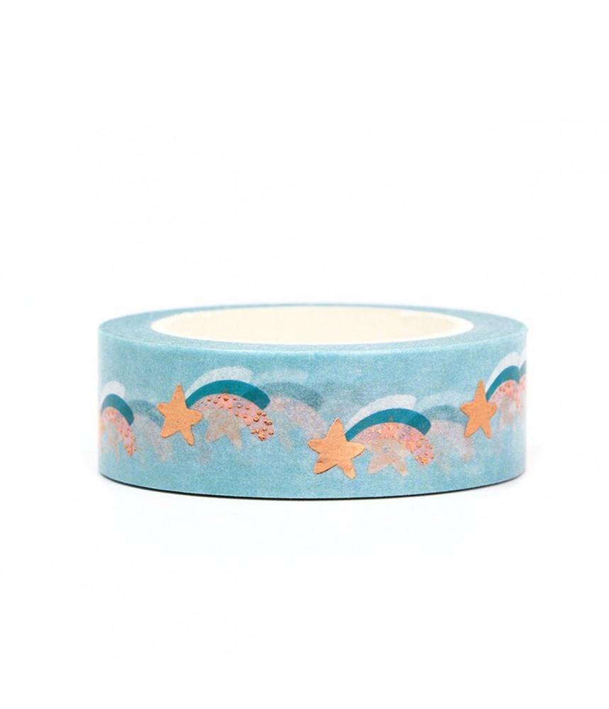 Washi tape regenboog folie ster