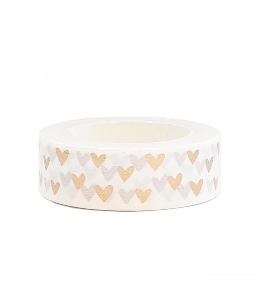 Washi tape koper hartjes