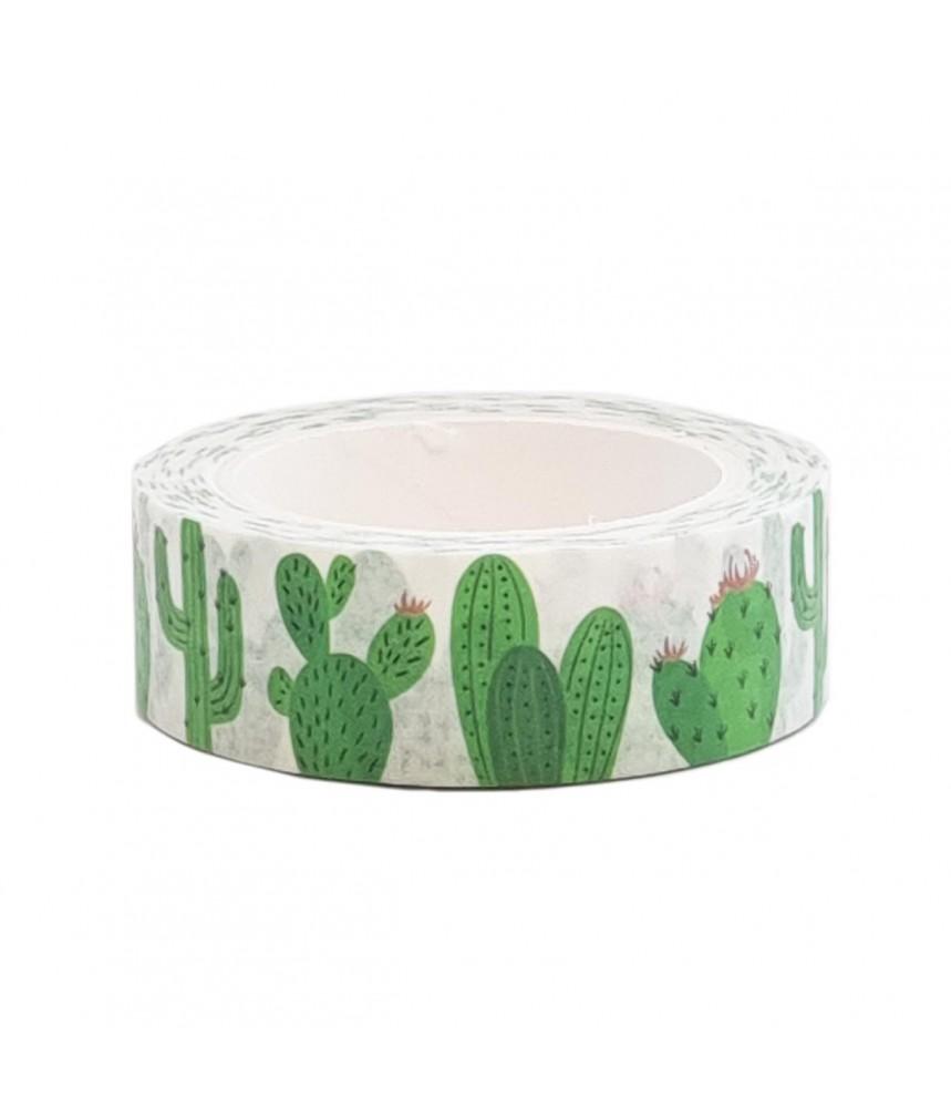 Washi tape cactus groen