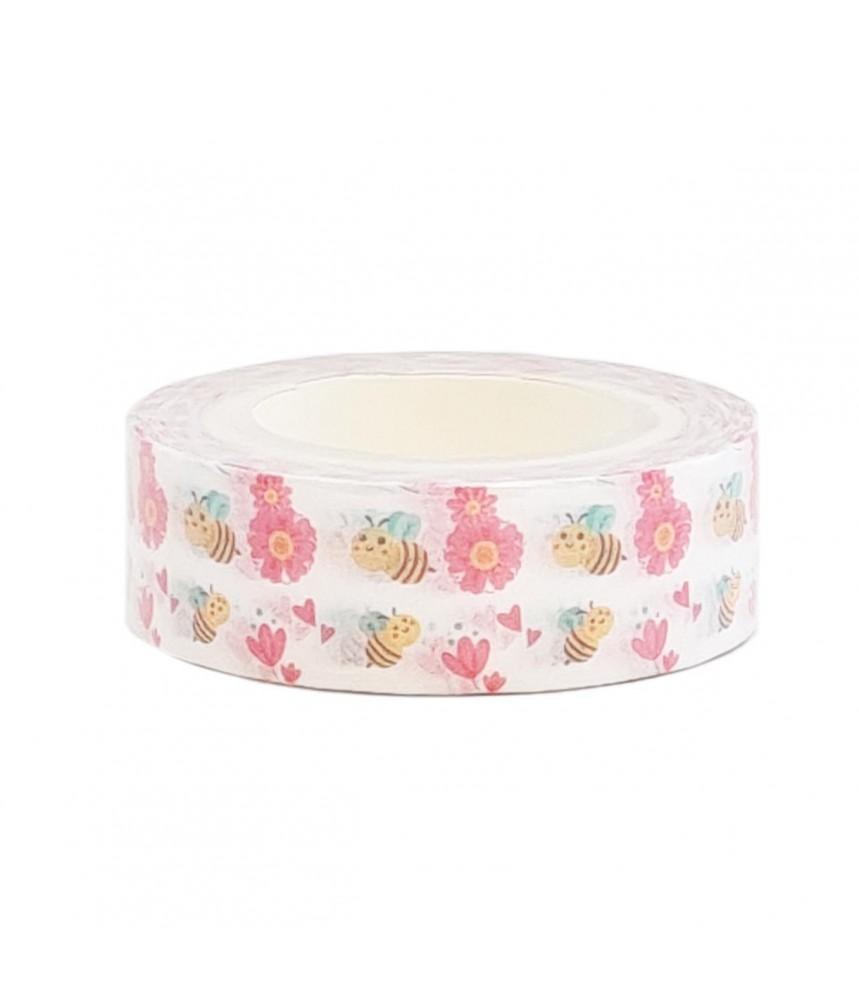 Washi tape kleine bijtjes bloemetjes