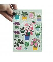 Stickervel studio inktvis planten